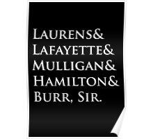 Hamilton Names Poster