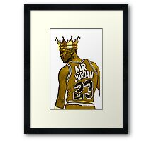 "Michael ""Air"" Jordan - King Framed Print"