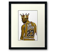 "Michael ""Air"" Jordan - King Framed Print"
