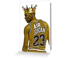 """Michael """"Air"""" Jordan - King Greeting Card"""