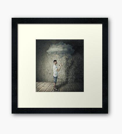 umbrella-cloud Framed Print