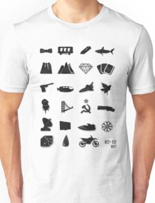 50 Years of James Bond Unisex T-Shirt