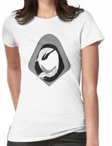 Ana Amari Black and White Womens Fitted T-Shirt