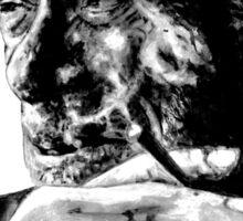 Charles Bukowski - black - quote Sticker