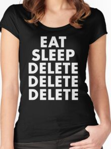 EAT SLEEP DELETE Women's Fitted Scoop T-Shirt