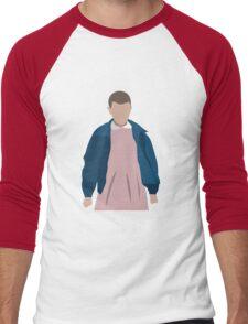 Stranger Things Eleven El Minimalist Men's Baseball ¾ T-Shirt