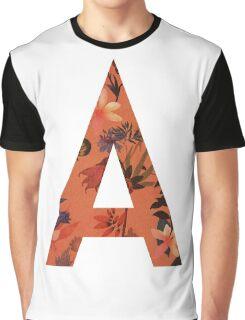 A floral letter Graphic T-Shirt