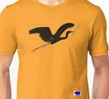 Blue Heron with twig  Unisex T-Shirt