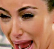 kim kardashian crying Sticker