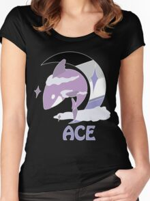 Ace Pride Sky Shark Women's Fitted Scoop T-Shirt