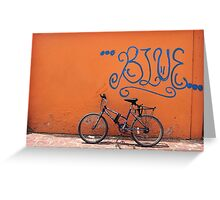 The Blue Ride Greeting Card