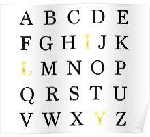 Alphabet ILY Poster