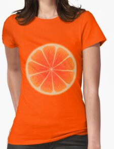 Orange sliced,fun,happy,modern,trendy,contemporary art Womens Fitted T-Shirt