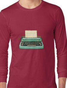Typewriter vintage mint Long Sleeve T-Shirt