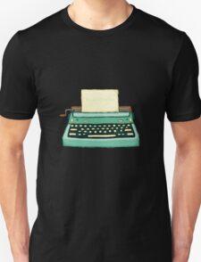 Typewriter vintage mint Unisex T-Shirt