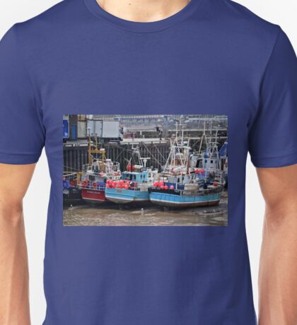 The Tide Is Out In Bridlington Harbour England Unisex T-Shirt