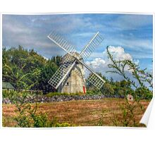 Jamestown Windmill, Rhode Island Poster