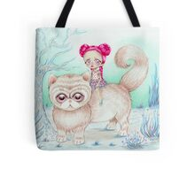 Kitty rider Tote Bag