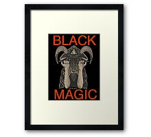 Distressed Black Magic Framed Print