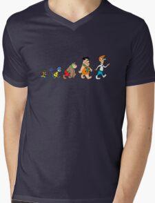 Hanna Barbera Evolution Mens V-Neck T-Shirt
