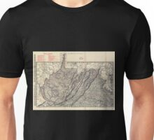 0180 Railroad Maps Indexed county and railroad pocket map and shippers guide of West Virginia accompanied by a new and original compilation and ready reference index showing Unisex T-Shirt
