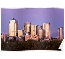 Canary Wharf Sunset Poster