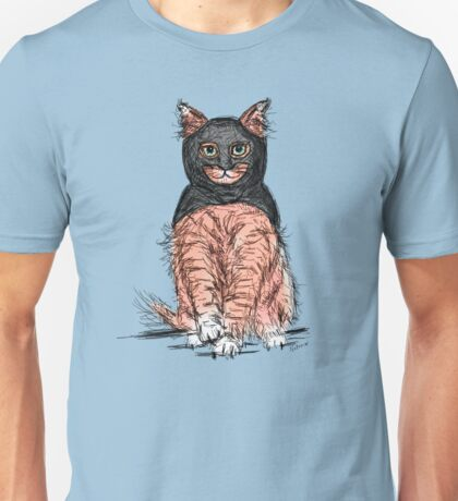 Periwinkle Pink Bat Cat  Unisex T-Shirt