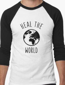 Heal The World Men's Baseball ¾ T-Shirt