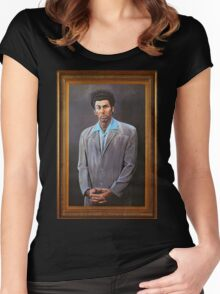Cosmo Kramer's Portrait Women's Fitted Scoop T-Shirt