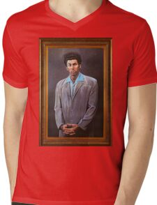 Cosmo Kramer's Portrait Mens V-Neck T-Shirt