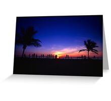 Sunset Viewers Greeting Card