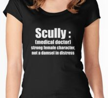 Scully, strong female character 2 Women's Fitted Scoop T-Shirt