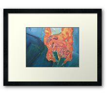 Sitting woman Framed Print