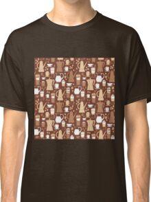 Coffee Pattern  Classic T-Shirt