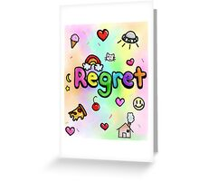 Regret With a Side of Sprinkles Greeting Card