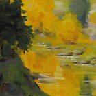 Reflecting Fall - Daily quick study painting by Karen Ilari