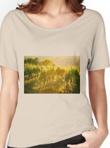 Vineyard rows in Marche, Italy Women's Relaxed Fit T-Shirt
