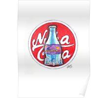 Nuka Cola Quantum Pencil Drawing Poster