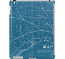 0315 Railroad Maps Map exhibiting the fixed location of the main trunk of the New-Orleans Opelousas Great Western Railroad of Louisiana together with its proposed branches Inverted iPad Case/Skin