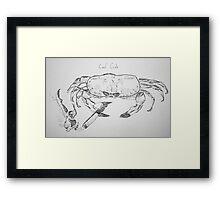 cool crab Framed Print
