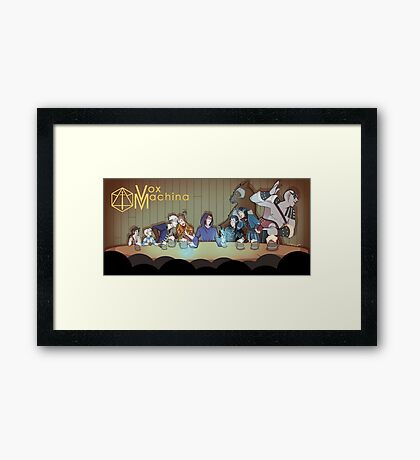 To Vox Machina Framed Print