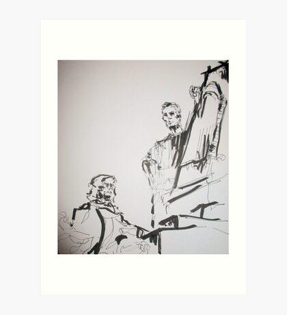 paris sculptures Art Print