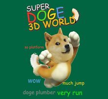 Super doge 3D World Womens Fitted T-Shirt