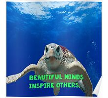 Beautiful minds inspire others Poster