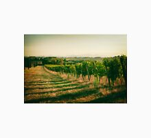 Vineyard fields in vintage style in Marche, Italy Unisex T-Shirt
