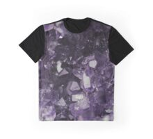 Purple Crystal Cluster Geode Graphic T-Shirt