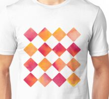 Watercolour Ink Quadrats - Square - Diamond - Raute - Quadrat [Pattern] Unisex T-Shirt