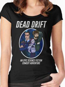 Cartoon Dead Drift by Davie Kizdar Women's Fitted Scoop T-Shirt