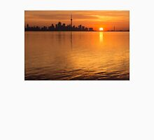 Fiery Toronto Skyline with the Sun Sliced in Half Unisex T-Shirt