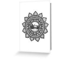 Mountain-Mandala Greeting Card